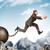 ambizioso · imprenditore · jumping · rupe · uomo · montagna - foto d'archivio © cherezoff