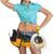 женщину · инструментом · пояса · кабеля - Сток-фото © cherezoff