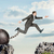 image of young businessman jumping over gap stock photo © cherezoff