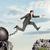 hırslı · işadamı · atlama · uçurum · adam · dağ - stok fotoğraf © cherezoff