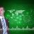 üzletember · öltöny · ujj · virtuális · gomb · citromsárga - stock fotó © cherezoff