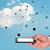 стороны · телефон · пусто · облаке · мужчины - Сток-фото © cherezoff