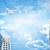 超高層ビル · ジェット · 世界地図 · 青空 · 市 · 世界 - ストックフォト © cherezoff