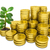 stack of golden coins with money tree stock photo © cherezoff