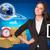 lächelnd · Geschäftsfrau · halten · Karton · Boxen · Business - stock foto © cherezoff