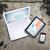 ノートパソコン · スマートフォン · 古い · 具体的な · 表面 - ストックフォト © cherezoff