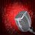 3D · ретро · микрофона · красный · занавес - Сток-фото © cherezoff