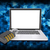 Binärcode · Laptop · Kombinationsschloss · abstrakten · elektronischen · Internet - stock foto © cherezoff