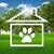 家 · 猫 · 芝生 · 午後 · 太陽 · 草 - ストックフォト © cherezoff