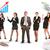 groep · zakenlieden · calculator · professionele · geïsoleerd · witte - stockfoto © cherezoff
