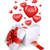 büyü · kutu · kırmızı · kalpler · hediye · kutusu · uçan - stok fotoğraf © cherezoff