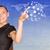 üzletasszony · virtuális · hálózat · emberek · ikonok · világoskék - stock fotó © cherezoff