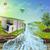 開いた本 · 青空 · 白 · 表面 · 雲 · 学校 - ストックフォト © cherezoff