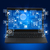 black laptop with icons on blue stock photo © cherezoff