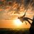 yüksek · yukarı · uçurum · dağ · kadın - stok fotoğraf © cherezoff