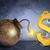 golden dollar sign with bomb in spider net stock photo © cherezoff