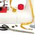 sewing machine with fabric threads and tape stock photo © cherezoff