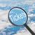 увеличительное · стекло · глядя · билеты · облака · бизнеса · свет - Сток-фото © cherezoff