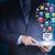 бизнесмен · цифровой · таблетка · мира · глобализация - Сток-фото © cherezoff