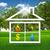 symbolen · licht · brand · water · huis · groen · gras - stockfoto © cherezoff