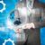 бизнесмен · таблетка · 3D · модель · город · аннотация - Сток-фото © cherezoff