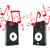 hang · audio · hangszóró · izolált · fehér · zene - stock fotó © cherezoff