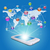 smartphone earth map and application icons stock photo © cherezoff