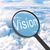 увеличительное · стекло · глядя · видение · облака · бизнеса · свет - Сток-фото © cherezoff