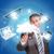ビジネスマン · ホールド · スマートフォン · ノートパソコン · 手 - ストックフォト © cherezoff