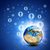 network contacts and earth hi tech background stock photo © cherezoff