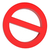 nem · piros · figyelmeztető · jel · izolált · fehér · kereszt - stock fotó © cherezoff
