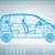 Hi-tech car on a blue background stock photo © cherezoff