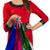 женщину · красное · платье · красочный · изолированный · белый - Сток-фото © cherezoff