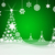 christmas tree from white snowflakes stock photo © cherezoff