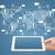 手 · グローバル · ビジネス · ネットワーク · 通信 · 雲 - ストックフォト © cherezoff