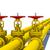 trzy · żółty · rur · odizolowany · biały · metal - zdjęcia stock © cherezoff