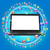 ноутбука · экране · синий · компьютер · интернет · работу - Сток-фото © cherezoff