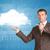 nuageux · carte · du · monde · nuages · ciel · monde - photo stock © cherezoff