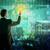 бизнесмен · виртуальный · экране · деловые · люди · связи · сотрудничество - Сток-фото © cherezoff