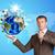 zakenman · pak · houden · aarde · wereldbol · man - stockfoto © cherezoff