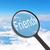увеличительное · стекло · глядя · друзей · облака · бизнеса · свет - Сток-фото © cherezoff