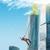 işadamı · tırmanma · gökdelen · dolar · işareti · altın - stok fotoğraf © cherezoff