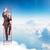 бизнесмен · скалолазания · лестнице · небе · фото - Сток-фото © cherezoff