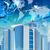 wolkenkrabbers · aarde · wereldkaart · technologisch · communie · afbeelding - stockfoto © cherezoff