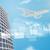 ジェット · ビジネス · センター · 超高層ビル · 世界地図 · 青空 - ストックフォト © cherezoff