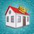 küçük · ev · kırmızı · çatı · beyaz · iş - stok fotoğraf © cherezoff