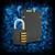 Binärcode · Kombinationsschloss · abstrakten · elektronischen · Internet · Metall - stock foto © cherezoff