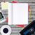 negro · carpeta · textura · del · papel · concretas · piso · negocios - foto stock © cherezoff