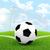 футбольным · мячом · углу · области · спорт · Футбол · футбола - Сток-фото © cherezoff