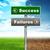 успех · провал · зеленый · дорожный · знак · скопировать · комнату - Сток-фото © cherezoff